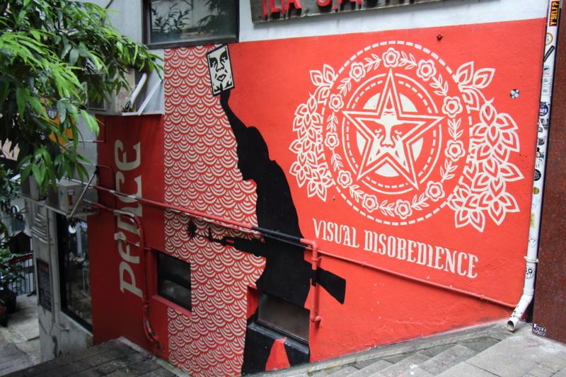 街の中の壁画