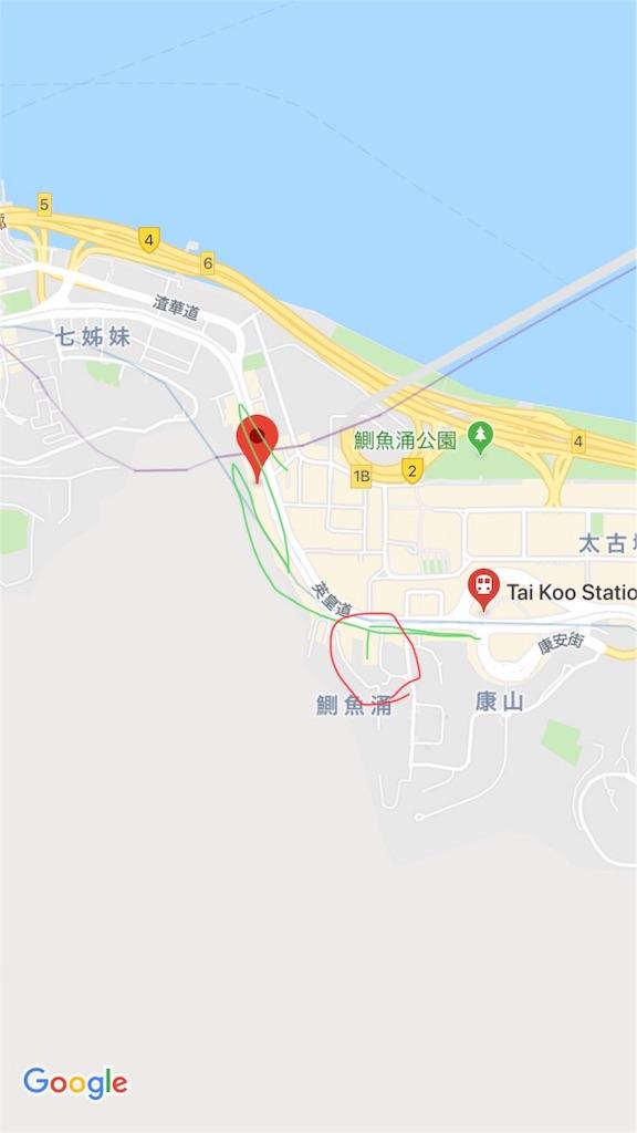 歩いた場所の地図