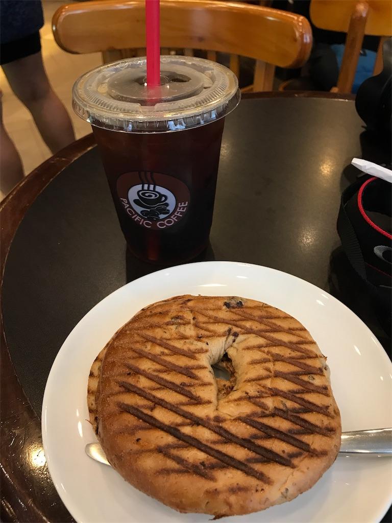 ベーグルとコーヒー