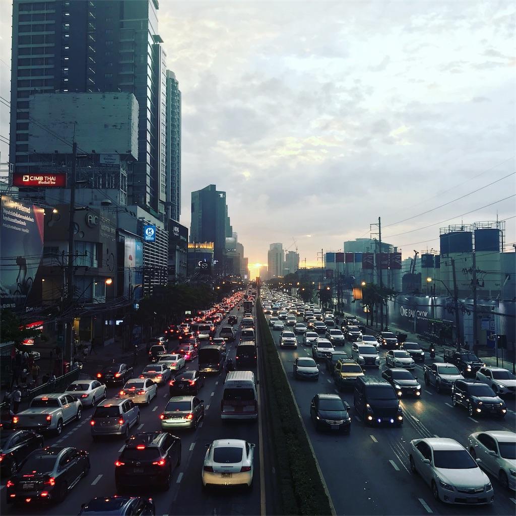 夕方のバンコク風景
