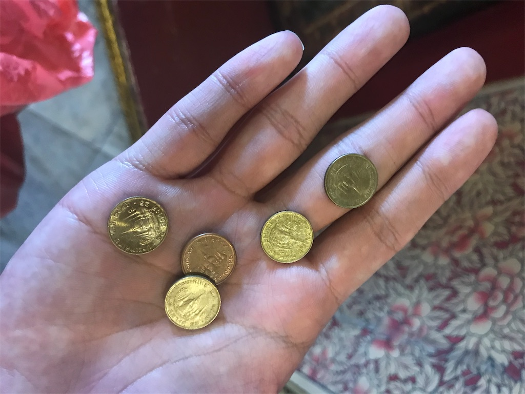 残ったコイン