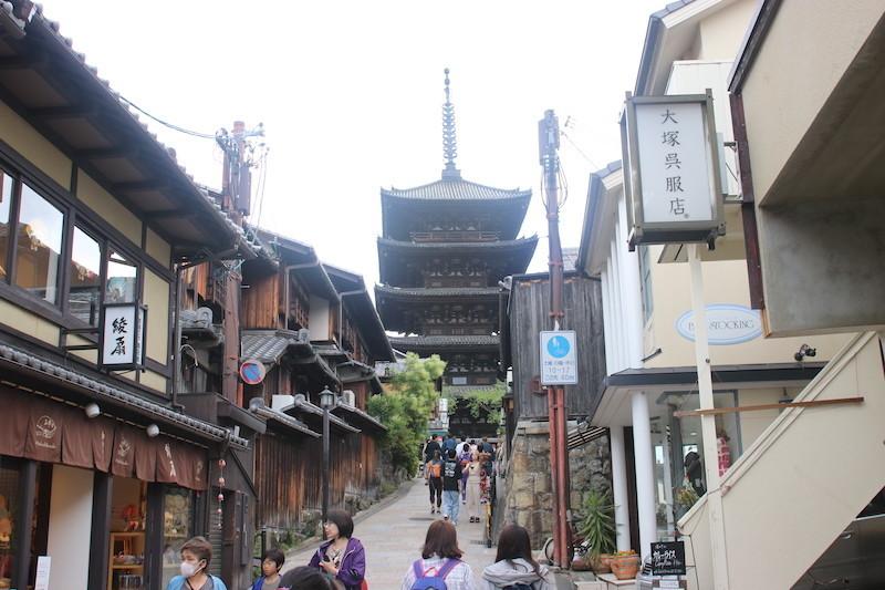京都二年坂の街並み