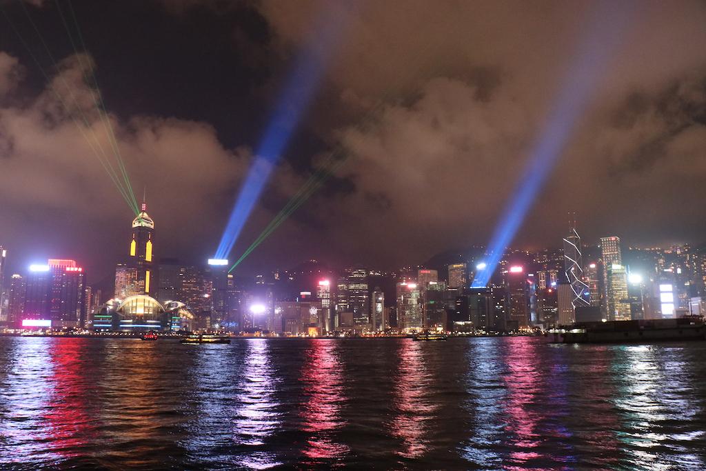 香港の夜景が見れる場所での写真