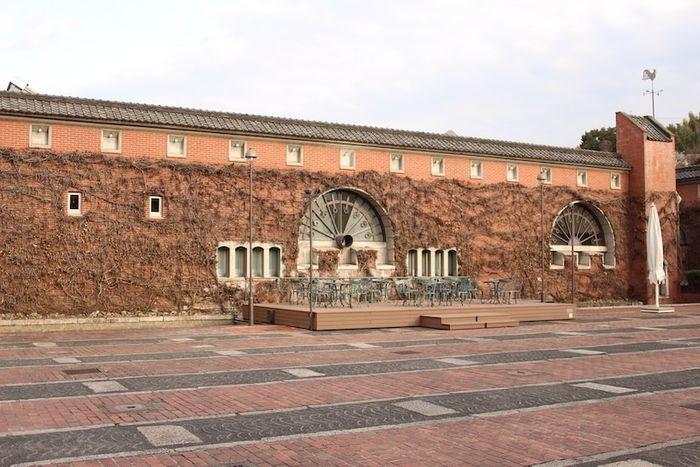 倉敷アイビースクエアの広場