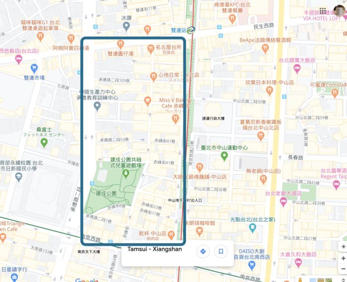 中山駅周辺の地図