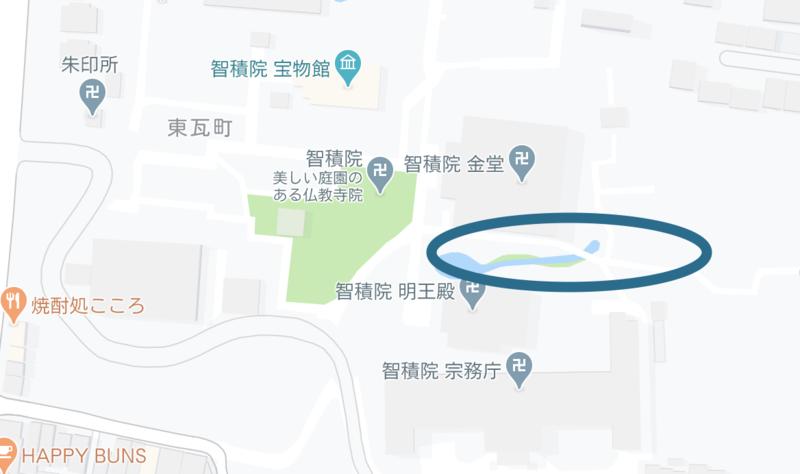 京都 智積院のあじさい苑の場所