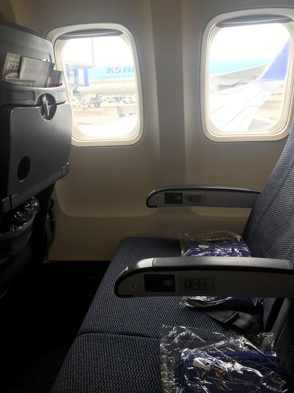 全日空ANAのNH875での座席