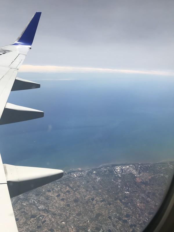 香港への飛行機