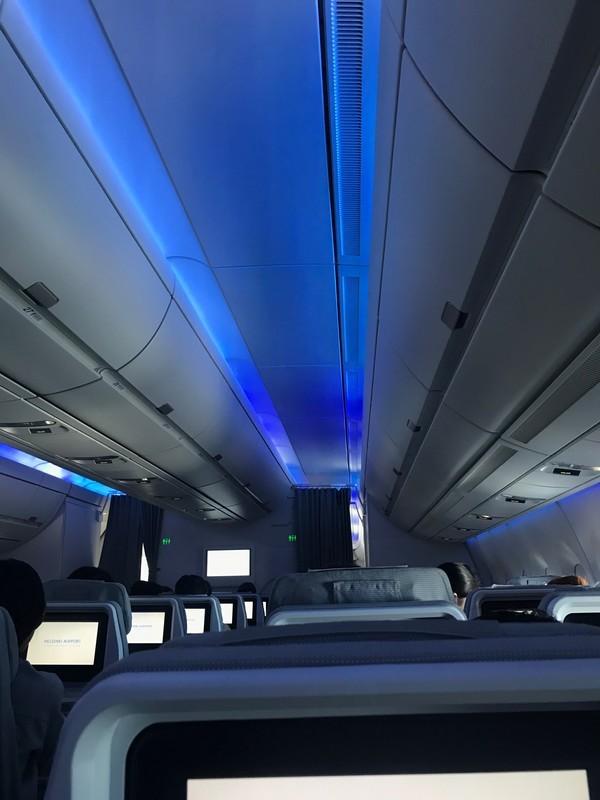 航空会社フィンエアーAY42の機内の様子・座席