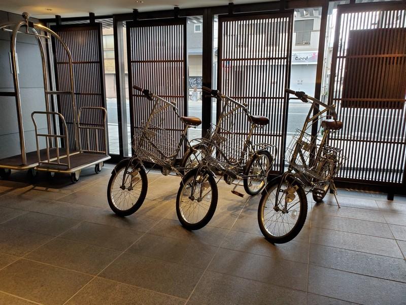 京都悠洛ホテルMギャラリー自転車レンタル