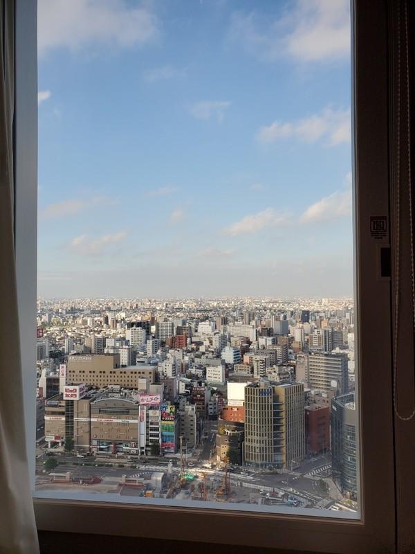 名古屋JRゲートタワーホテルの朝日