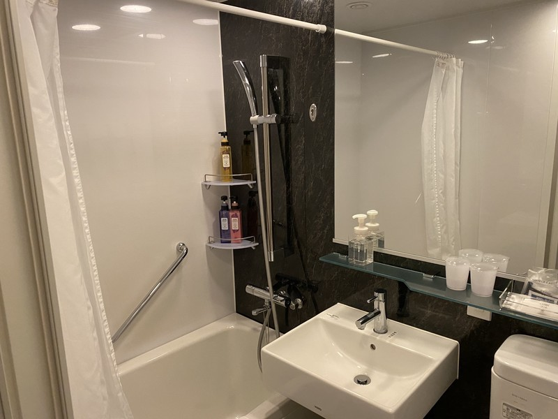 ホテルグランヴィア和歌山のセミダブルルームのバスルーム・トイレ