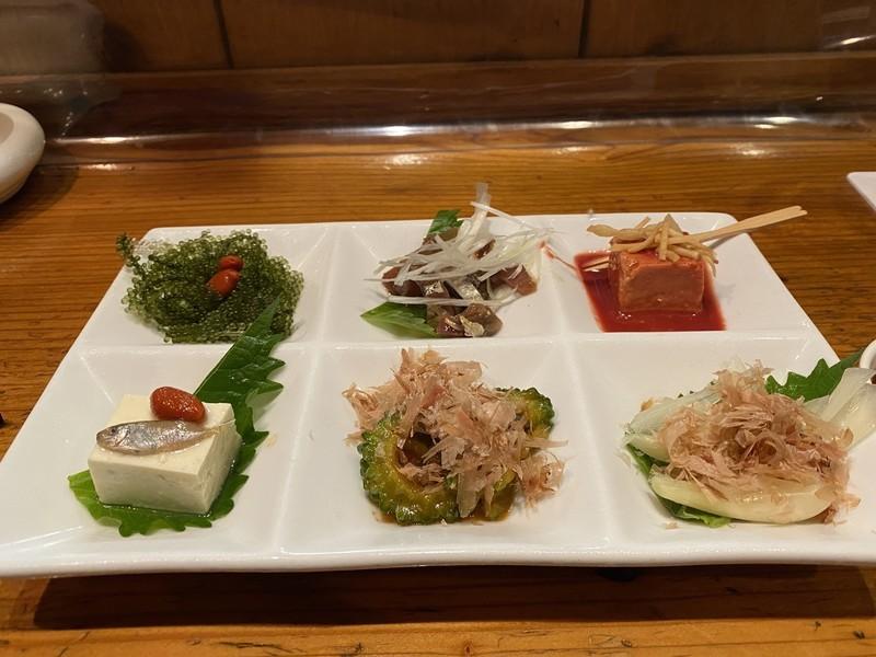 沖縄宮古島で行って欲しいおすすめの居酒屋「うまりずま」珍味の盛り合わせ