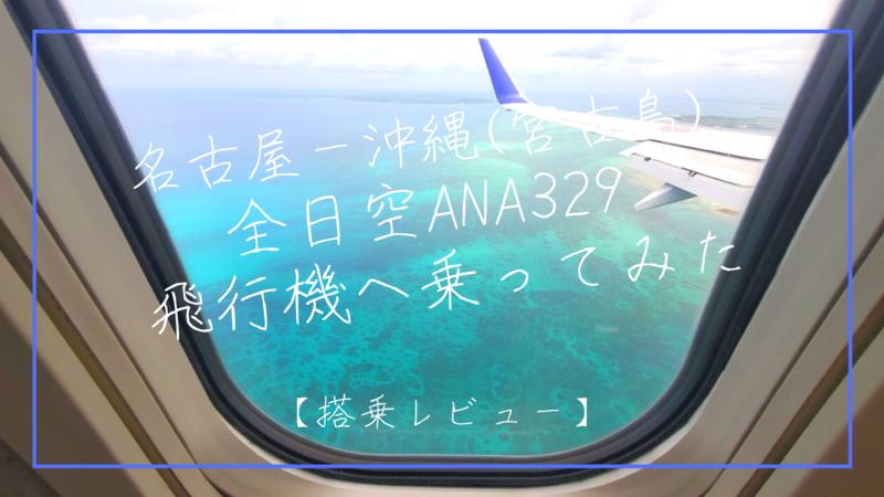 名古屋ー沖縄 宮古島 全日空ANA329 リゾート行きの飛行機へ乗ってみた【搭乗レビュー】