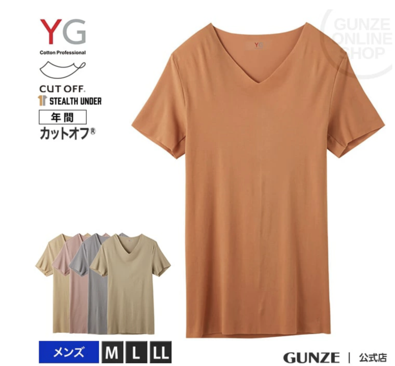 GUNZE グンゼ YG ワイジー ステルスインナーVネックTシャツ メンズ YV2715