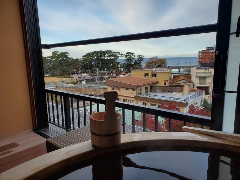 静岡県伊豆市 ふじやホテル 露天風呂付き部屋
