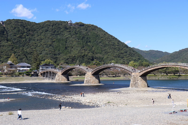 山口県岩国市「錦帯橋」一風変わった橋