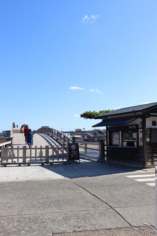 「錦帯橋」を渡るために入場券を買う場所