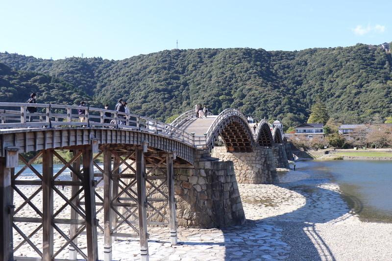 錦帯橋はいろんな撮り方ができる橋で楽しい