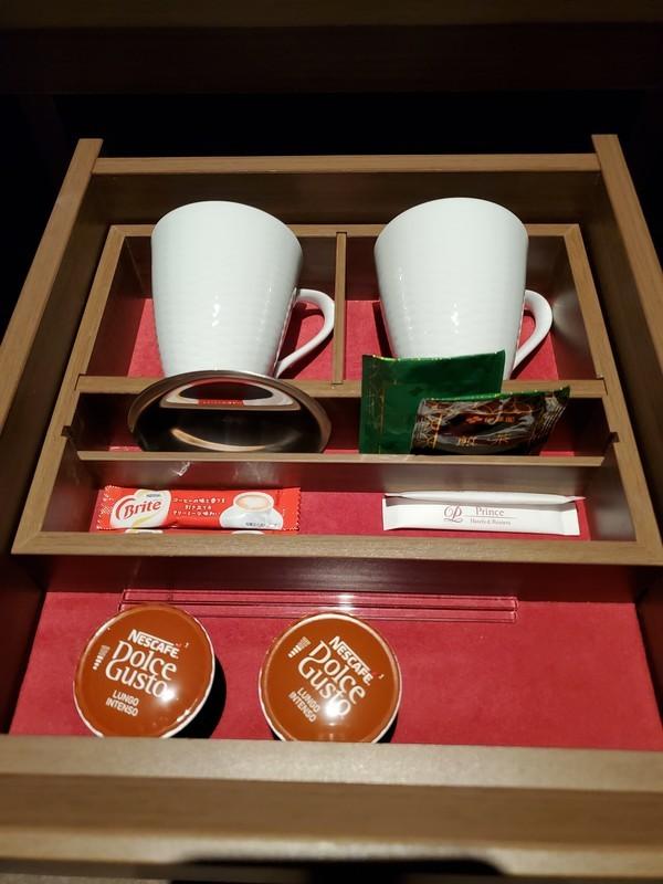 名古屋プリンスホテルスカイタワースカイツインルーム コーヒーカップ類