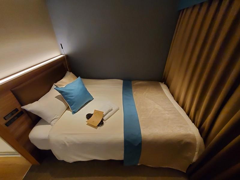 ワットホテル&スパ飛騨高山エコノミーダブルルームのベッドルーム