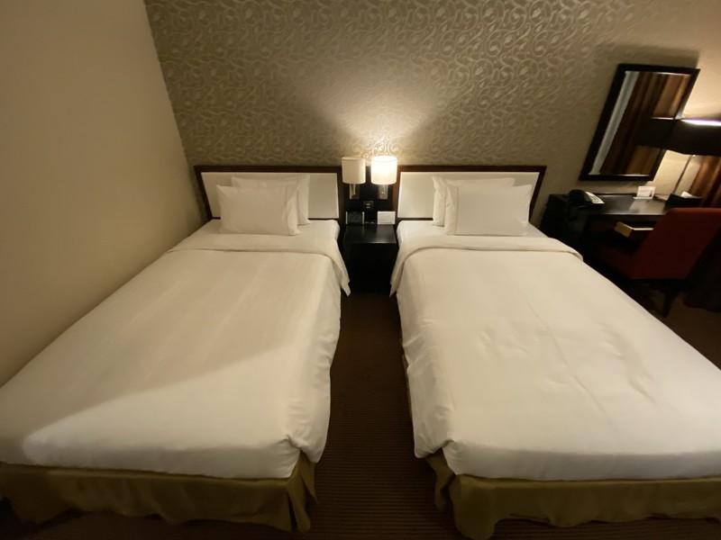 ザロイヤルパークホテル福岡 スタンダートツインルームのベッドルーム