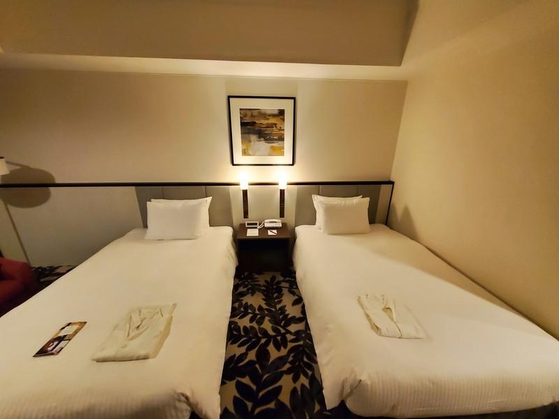 ANAクラウンプラザホテルグランコート名古屋スタンダートツインのベッドルーム