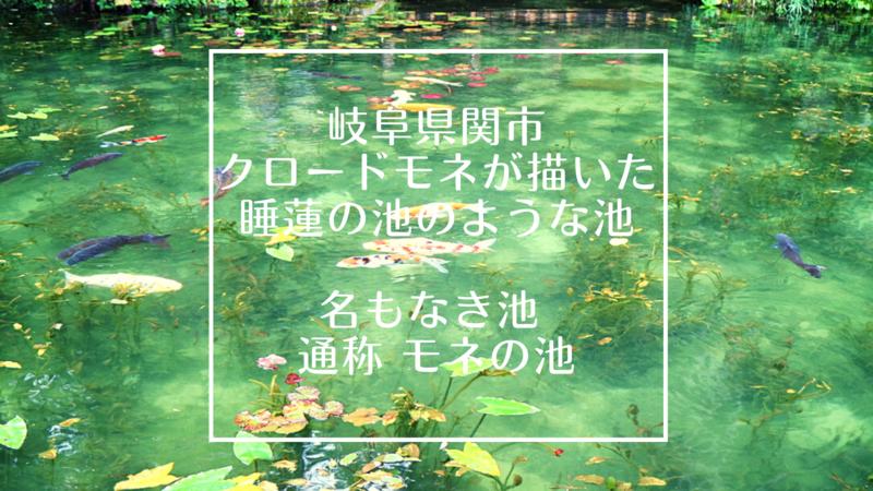 岐阜県関市 モネの池 インスタで一気に人気になったまるでクロード・モネが描いた睡蓮の池に行ったみた