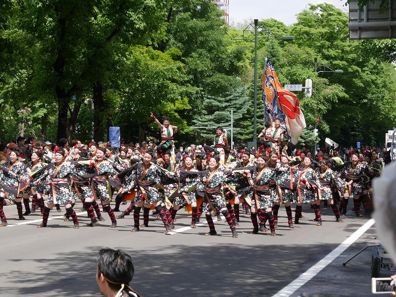 井原水産&北星学園 2017/06/11 大通り南パレード