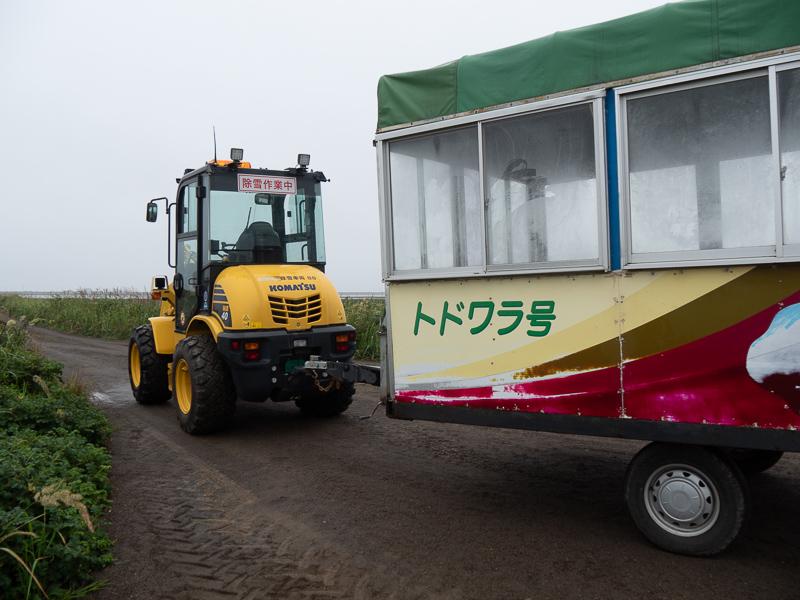 野付半島 トラクターバス