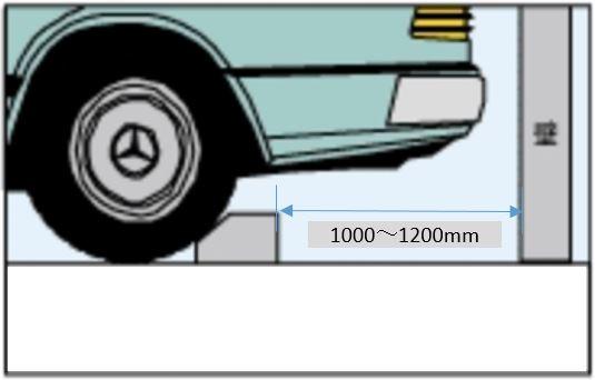 輪留め設置の最適な後方位置