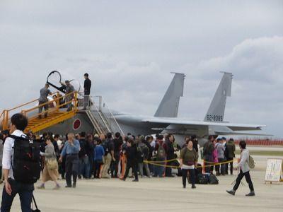 F‐15コックピット展示