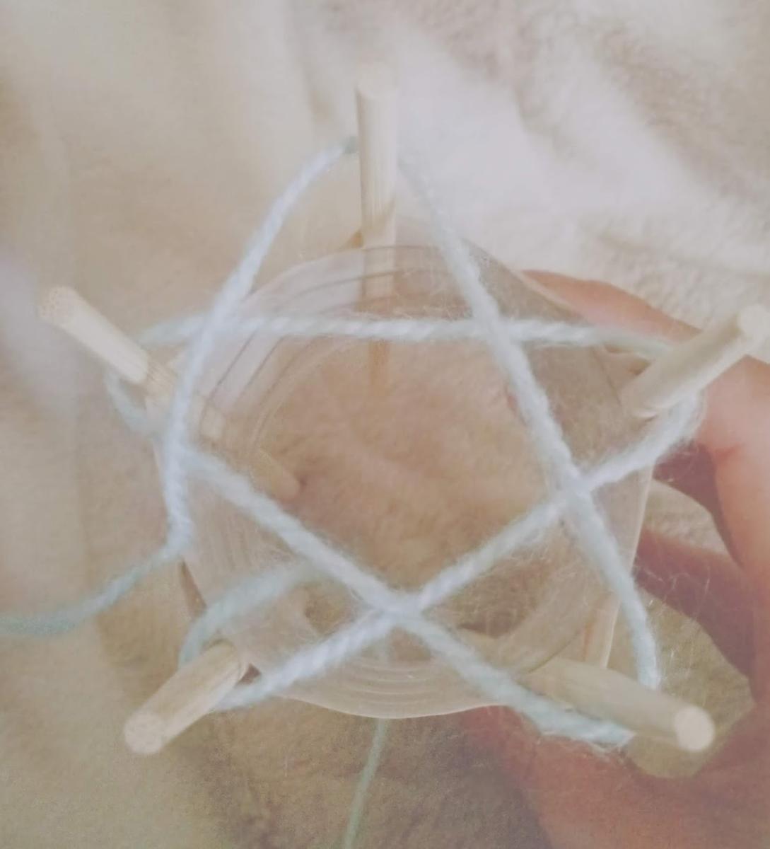 リリアンの糸の掛け方