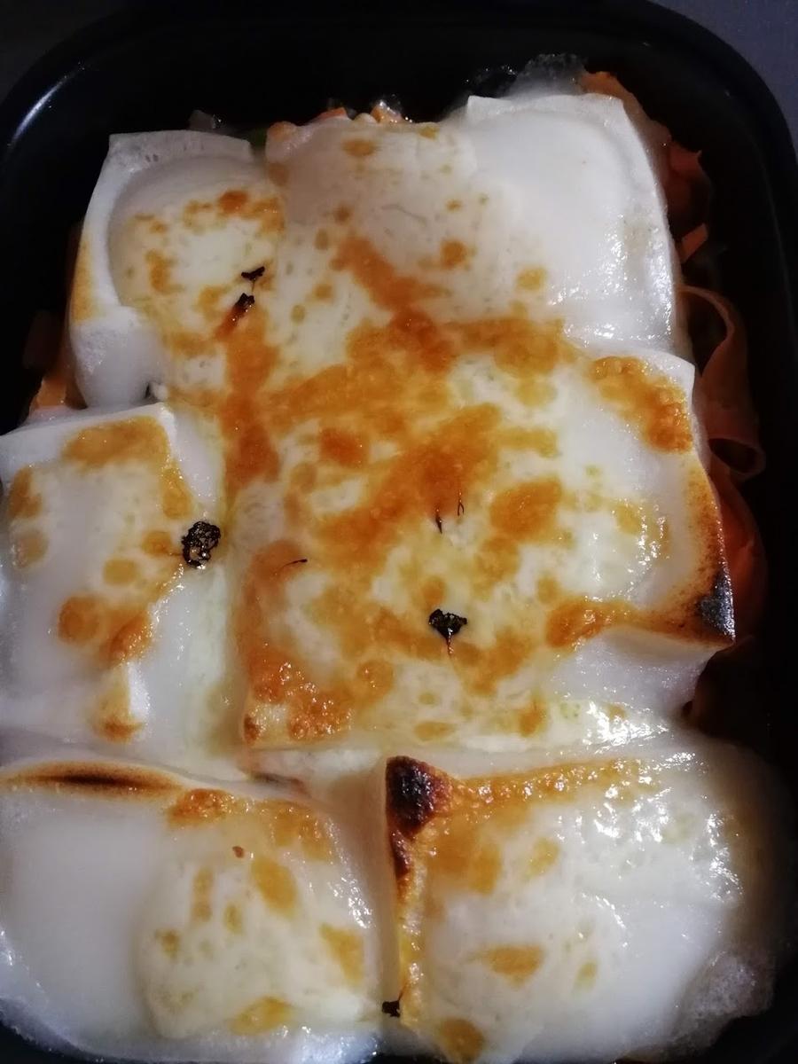 グリルパンで焼いた餅