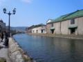 小樽運河。天気は良好。