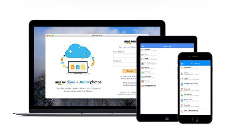 5GBまで保存可能な「Amazon Drive」