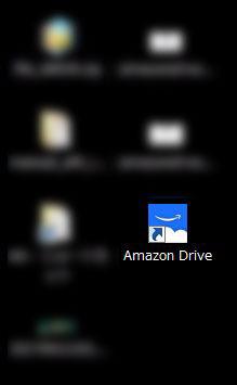 デスクトップアプリ使用方法画像解説 Amazon Driveアプリが表示