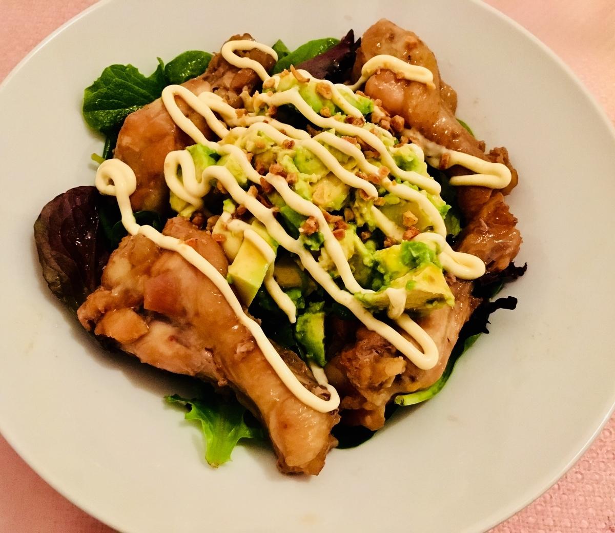 鶏の甘煮サラダ