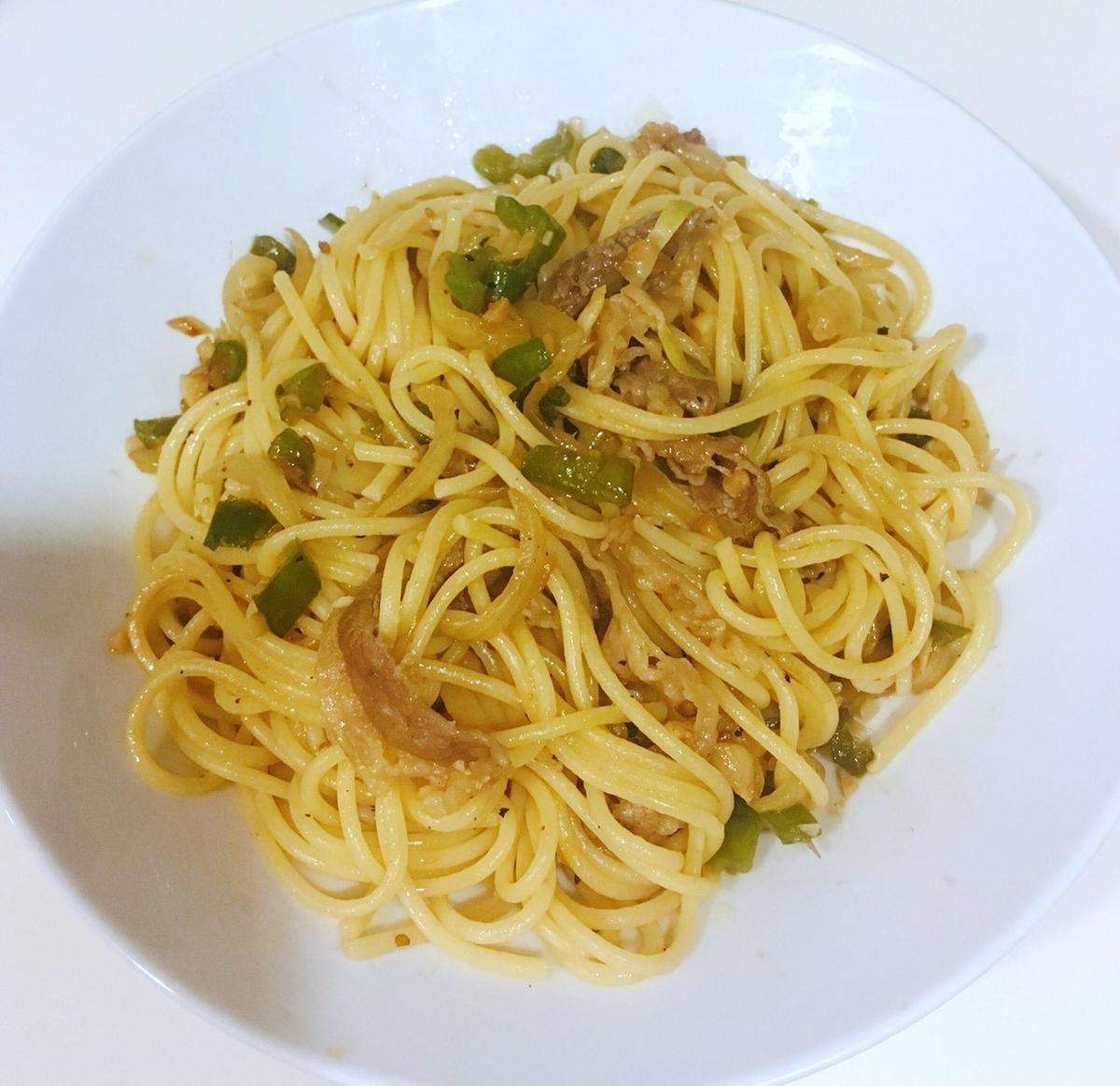 焼肉スパゲッティ