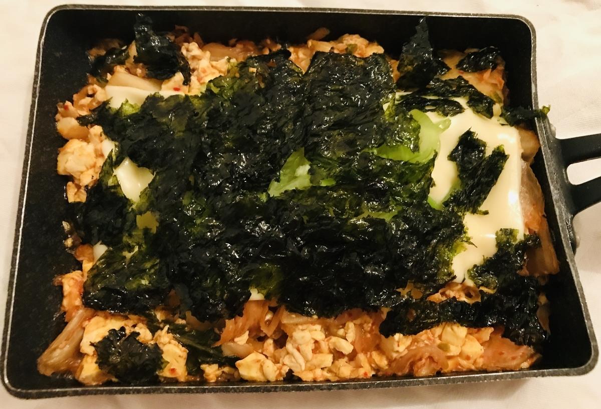 豆腐一丁キムチ焼き