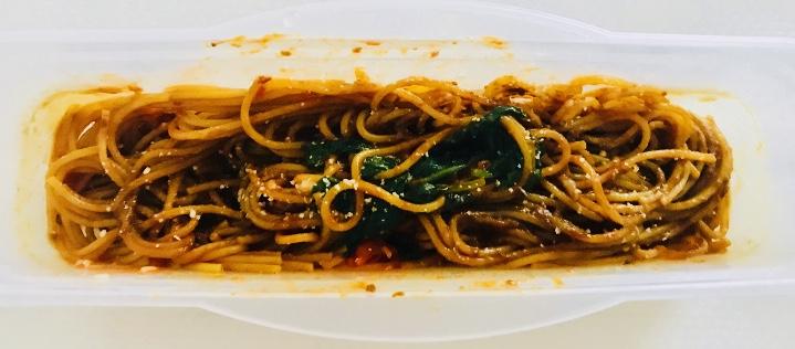 チーズとトマトのカレースパゲッティ
