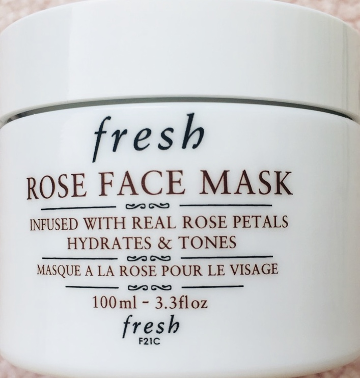 fresh, rose face mask