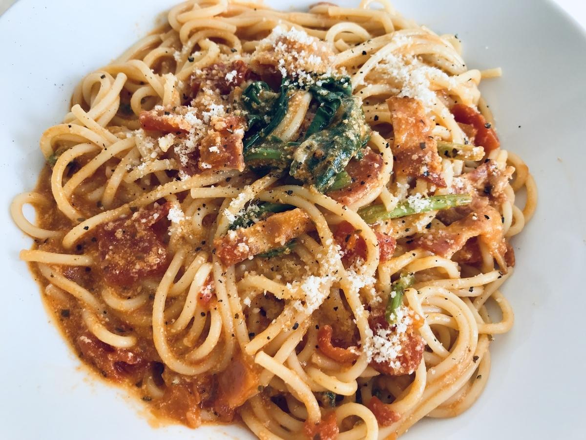 生パスタ風トマトスパゲッティ