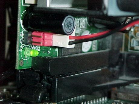 回転数信号線を抜いてPL-iP3/T のFAN端子に接続