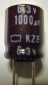 [日本ケミコン]6.3V 1000μF KZE