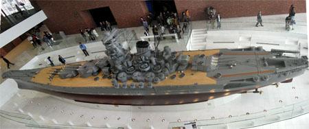 呉市海事歴史科学館[戦艦大和 1/10 スケール模型 俯瞰