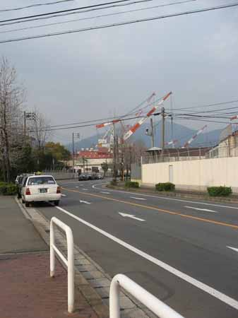 昭和埠頭バス停付近