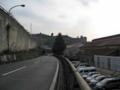 [呉]IHI前バス停、方面に向かう途中で振り返る