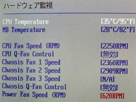 X-FAN RDL9025S-PWM CPUファン回転速度 2250RPM