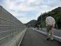 県道356号線豊浜蒲刈線の大浦地区の歩道を撮影